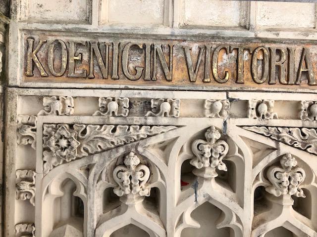 Königin-Victoriaberg Denkmal ist eingerüstet